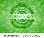 genuine quality green emblem.... | Shutterstock .eps vector #1197732937