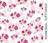 floral pattern in vector | Shutterstock .eps vector #1197734314