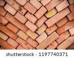 texture red bricks   Shutterstock . vector #1197740371