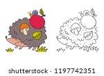 cartoon character cute hedgehog ... | Shutterstock .eps vector #1197742351