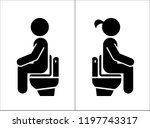 toilet signs. wc icons.  toilet ... | Shutterstock .eps vector #1197743317