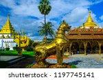 wat thai wattanaram  leo gold ... | Shutterstock . vector #1197745141