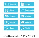 buttons for web page menu | Shutterstock . vector #119775121