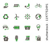 alternative energy simple... | Shutterstock .eps vector #1197752491