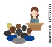 female speaker doing... | Shutterstock .eps vector #1197753151