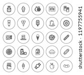 delicious icon set. collection...   Shutterstock .eps vector #1197755941