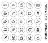 preparation icon set.... | Shutterstock .eps vector #1197756007