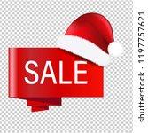 christmas banner with santa... | Shutterstock .eps vector #1197757621