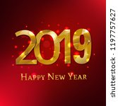 new year card with gradient... | Shutterstock .eps vector #1197757627