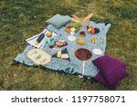 glamour picnic with homemade... | Shutterstock . vector #1197758071