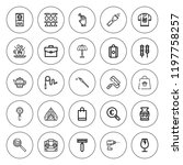 handle icon set. collection of... | Shutterstock .eps vector #1197758257