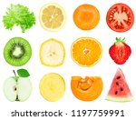 collection of fruit and... | Shutterstock . vector #1197759991