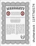 grey retro vintage warranty... | Shutterstock .eps vector #1197760174