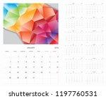 calendar. 2019 calendar. vector ...   Shutterstock .eps vector #1197760531