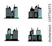 building flat style set... | Shutterstock .eps vector #1197761971