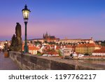 charles bridge in the morning... | Shutterstock . vector #1197762217