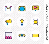 vector illustration of 9 cinema ... | Shutterstock .eps vector #1197765904
