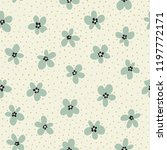 floral seamless pattern. vector ... | Shutterstock .eps vector #1197772171