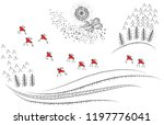 hand drawn christmas card with... | Shutterstock .eps vector #1197776041