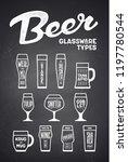 beer glassware types. poster or ... | Shutterstock .eps vector #1197780544