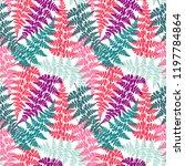fern frond herbs  tropical... | Shutterstock .eps vector #1197784864