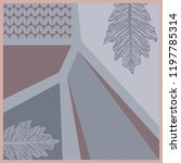 leaf and geometric scarf... | Shutterstock .eps vector #1197785314