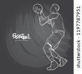 illustration of basketball... | Shutterstock .eps vector #1197787951