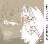 illustration of basketball... | Shutterstock .eps vector #1197787954