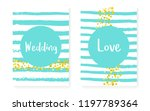 bridal shower set with dots and ... | Shutterstock .eps vector #1197789364