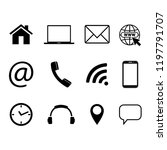 collection of communication... | Shutterstock .eps vector #1197791707