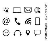 collection of communication... | Shutterstock .eps vector #1197791734