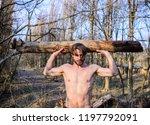 lumberjack or woodman sexy... | Shutterstock . vector #1197792091