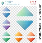 sort geometric polygonal icons  ... | Shutterstock .eps vector #1197801304