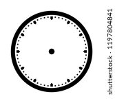 clock dial vector. precise and... | Shutterstock .eps vector #1197804841