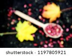 red beans in wooden spoon on... | Shutterstock . vector #1197805921