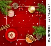 christmas vector top view... | Shutterstock .eps vector #1197812887