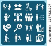people related set of 16 icons...   Shutterstock . vector #1197821107