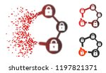broken blockchain network icon...   Shutterstock .eps vector #1197821371