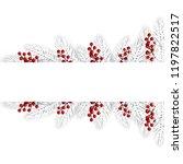 hristmas background with fir... | Shutterstock .eps vector #1197822517
