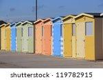 row of coloured beachhouses in... | Shutterstock . vector #119782915