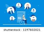 business chat   flat design... | Shutterstock .eps vector #1197832021