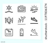 simple set of 9 icons related... | Shutterstock .eps vector #1197836374