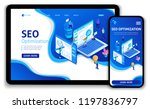 website template design seo... | Shutterstock .eps vector #1197836797