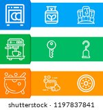 simple set of  9 outline icons... | Shutterstock .eps vector #1197837841