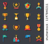flat design awards symbols... | Shutterstock . vector #1197840211