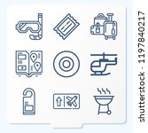 simple set of 9 icons related... | Shutterstock .eps vector #1197840217