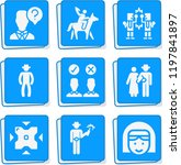 simple collection of people... | Shutterstock .eps vector #1197841897
