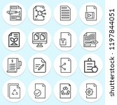 simple collection of document... | Shutterstock .eps vector #1197844051