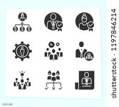 simple set of 9 icons related... | Shutterstock .eps vector #1197846214