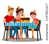 birthday of child  family... | Shutterstock .eps vector #1197851317